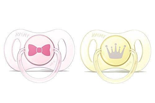 Philips AVENT 2 sucettes nouveau-né décorées fille - Silicone 0-2mois