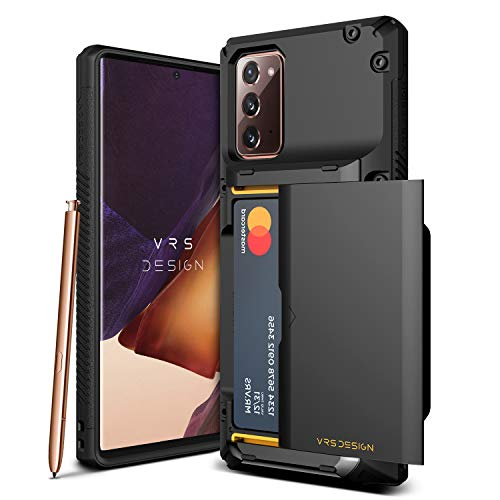 VRS DESIGN Damda Glide Pro for Galaxy Note 20, with [4 Cards] [Semi Auto] Premium Sturdy Credit Card Slot Wallet for Samsung Galaxy Note 20 5G Case 6.7 inch(2020)