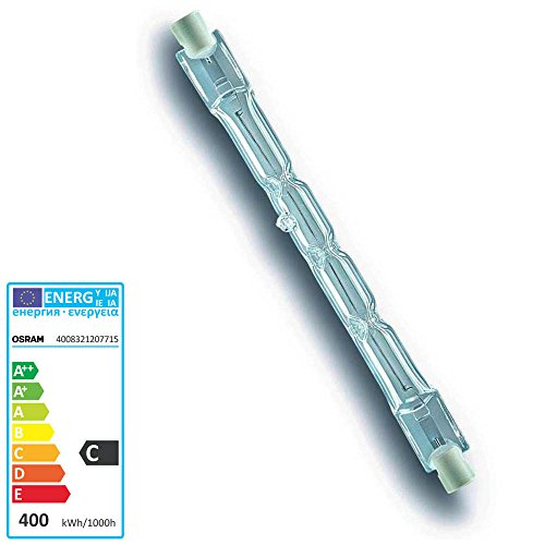 Osram 64702 Haloline Pro Lampadina Eco Alogena 114,2mm 230v 400w R7s. Equivalente a 500w.