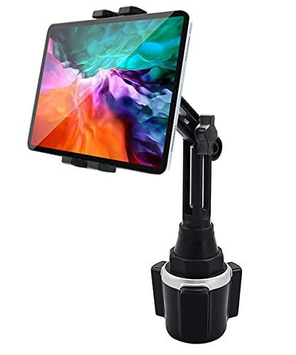 woleyi Supporto Tablet Portabicchieri Auto, Porta Tazza Camion per Tablet Telefono con Braccio Regolabile, per iPad PRO 12.9 10.5 9.7 Air Mini 5 4 3 2, iPhone 12 PRO Max e 4-13  Tablet Smartphone