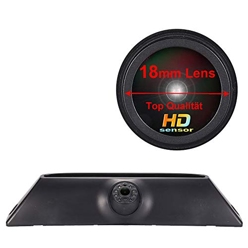 HD IP68 Rückfahrsystem Rückfahrkamera im 3.Bremslicht Bremsleuchte passend Mit Winkel verstellen Nachtversion IR-Licht für Van Dachkamera FIAT IVECO Daily 4 Daily V 5 Gen 2011-2014 (Rückfahrkamera)