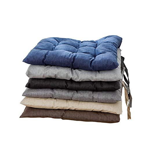 N / C Cojín de Silla de algodón y Lino Impermeable, Buena Estabilidad, Buena Elasticidad, Bordes de Bandas, también se Puede Usar para Cojines de sofá.