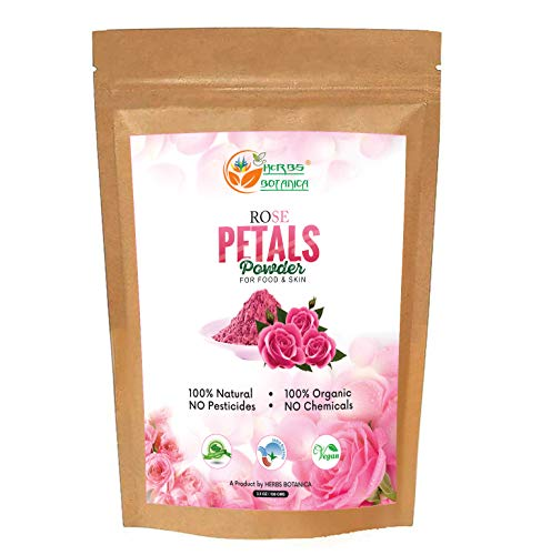 Herbs Botanica Rose Petal Powder Organic 100g / 3.52 oz For Face Mask | Skin Care | Natural and Chemical Free | No Added Preservatives or Colors