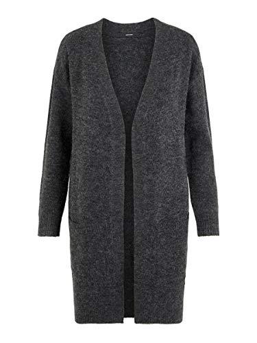 VERO MODA Damen Strickjacke Wollmischfaser SDark Grey Melange