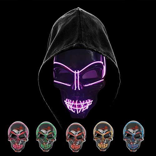 KiraKira Máscara LED Halloween, Halloween LED Máscaras