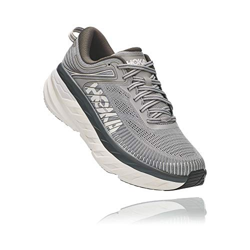 HOKA ONE ONE Men's Bondi 7 Running Shoe, Wild Dove/Dark Shadow, 10