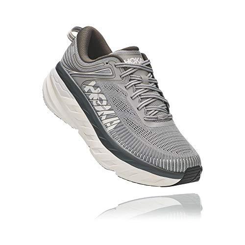 HOKA ONE ONE Men's Bondi 7 Running Shoe, Wild Dove/Dark Shadow, 10.5
