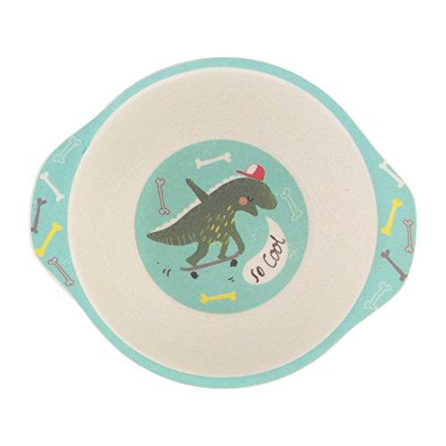 Bol pour enfant, motif dinosaure, sans BPA, passe au lave-vaisselle