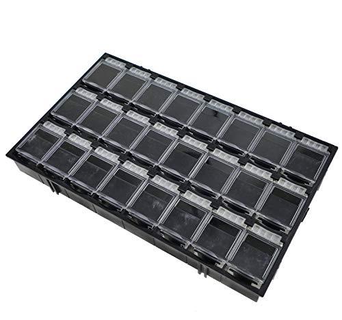 24er SMD Antistatik Container Schwarz aneinandersteckbar Mäuseklo Sortiment Box