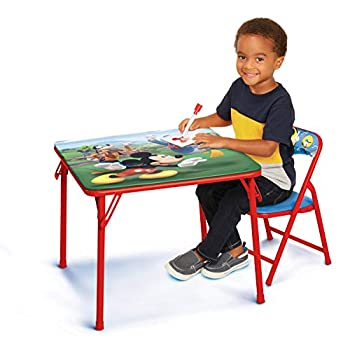 Disney Junior 45704 Mickey Kids Table & Chair Set Junior Table for Toddlers Ages 2-5 Years ,20  x 20