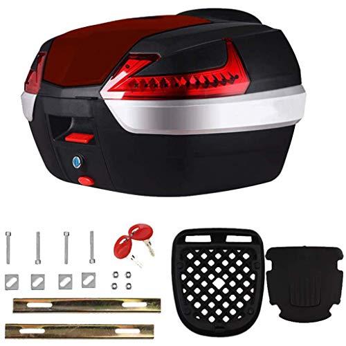 LCF Motorradkoffer Gepäck Hecktaschen, 42L Multifunktions-Helmtasche mit Weicher Rückenlehne, Outdoor Sports Rear Seat Box