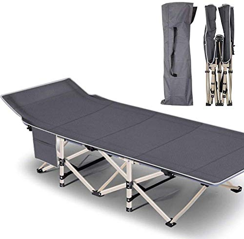 Folding Camping Cots for Adults Heavy Duty cot with Carry Bag, Portable Sleeping Bed for Camp Office Use Outdoor Cot Bed for Traveling