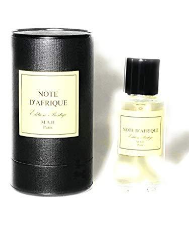 NOTE D'AFRIQUE, eau de parfum MAH, 50ml, fabriqué en France