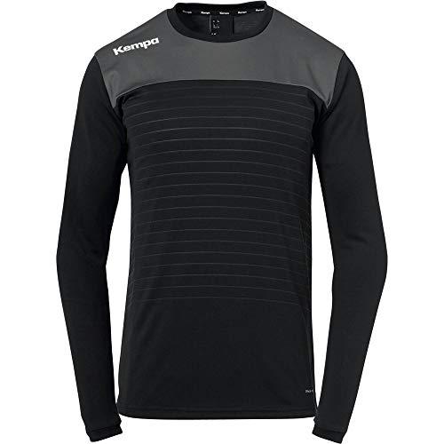 Kempa Herren Emotion 2.0 Langarmshirt Oberbekleidung, schwarz/Anthra, M
