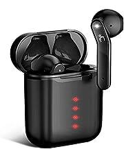 【2020年Bluetooth5.1 革新的な瞬時接続】 Bluetooth イヤホン Hi-Fi 完全 ワイヤレス イヤホン 自動ペアリング 蓋を開けて瞬時接続 ブルートゥース イヤホン IPX7防水 コンパクト スポーツ CVC8.0イズキャンセリング&AAC対応 ハンズフリー通話 音量調節 Siri対応 長時間再生 左右分離型 iPhone/iPad/Android対応 (ブラック)