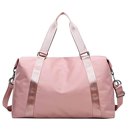Borsa da palestra sportiva a tracolla borsa da yoga per nuoto da donna separazione bagnata e asciutta borsa da escursione portatile-Tromba rosa