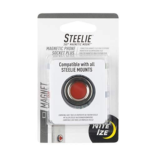 Nite Ize Original Steelie Magnetic Phone Socket Plus - Additional Magnet for Larger Phones Using Steelie Phone Mounting Systems, Grey
