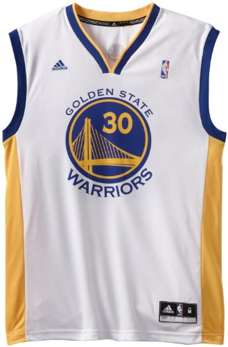 adidas NBA Golden State Warriors Stephen Curry # 30da Uomo, da Uomo, Uomo, Home, XXL