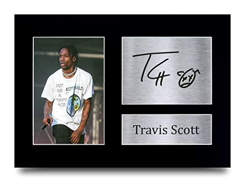 HWC Trading A4 Travis Scott Gifts gedrucktes Autogramm für Fans von Musik-Erinnerungsstücken – A4