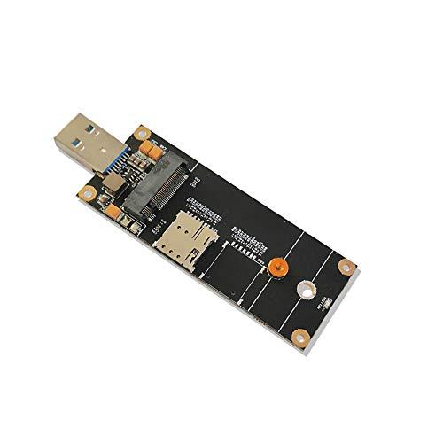 EXVIST 4G LTE Industrial M.2 (NGFF) a USB3.0 Adattatore W/NANO SIM Card Slot funziona con modulo 4G LTE come Quectel EM05 EM06 ecc. Applicabile per applicazioni M2M e IoT come Raspberry Pi