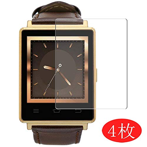 【4 Pack】 Synvy Screen Protector for Smart Watch No. 1 D6 0.14mm TPU Flexible HD Clear Case-Friendly Film Protective Protectors [Not Tempered Glass] New Version