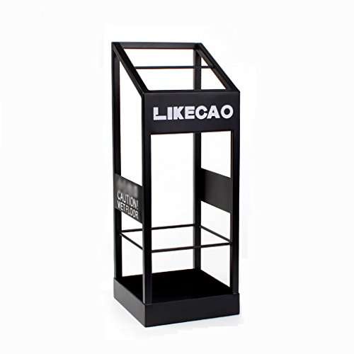 WKHQQ Umbrella stand umbrella stand wicker Free standing umbrella stand black length * width * height 22 * ​​24 * 60cm umbrella stand for hallway
