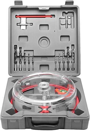 PaNt Profesional Broca para Agujeros Redondos Diámetro Ajustable 40-200mm Coronas para Madera con Recoge Polvo Taladro Coronas para pladur Pared, para Orificios de Ventilación, Luces en Techos