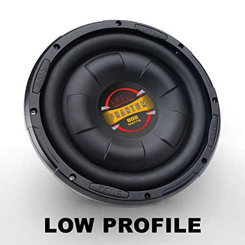 boss 10 inch car subwoofers BOSS Audio Systems D10F 800 Watt, 10 Inch , Single 4 Ohm Voice Coil, Shallow Mount Car Subwoofer