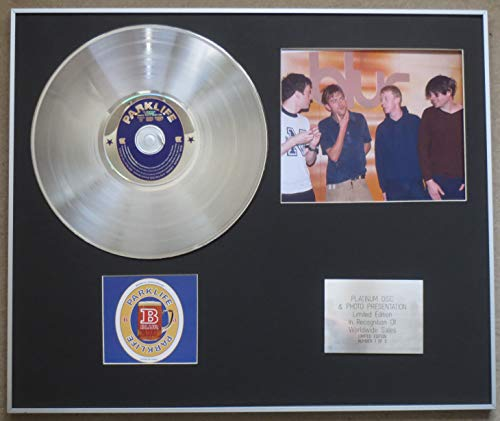 Century Music Awards BLUR - Disco de platino CD individual + foto, PARKLIFE