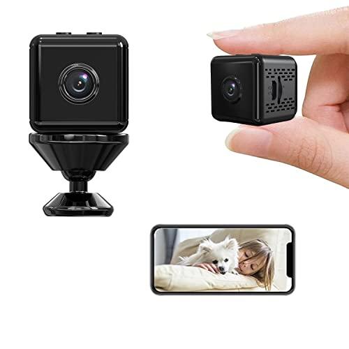 Mini Telecamera Aggiornata Wifi Nascosta Nanny Cam Baby Monitor 1080P Hd Videoregistratore Per Interni Di Sicurezza Domestica Con Rilevamento Del Movimento Di Visione Notturna Controllo APP