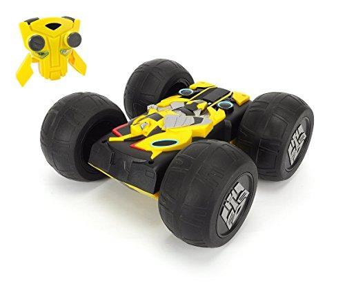 Dickie Toys 203115000 - RC Flip N Race Bumblebee, funkferngesteuertes Transformers Fahrzeug inklusive Batterien, 25 cm