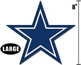 American Vinyl Large 8 Inch Blue Star Dallas Cowboys Colors Sticker (Logo Big dak Fan ROMO)