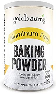 Goldbaums Baking Powder, Aluminum Free - Certified Gluten Free Baking Powder with Zero Cholesterol and Carbohydrates - Kos...
