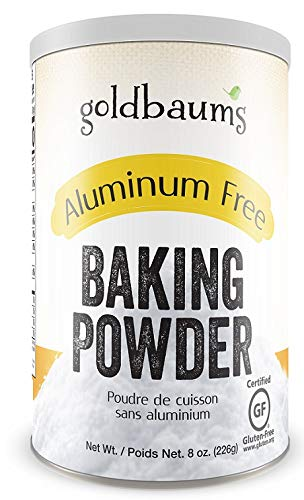Goldbaums Baking Powder, Aluminum Free - Certified Gluten Free Baking Powder with Zero Cholesterol and Carbohydrates - Kosher Certified Bake Powder for Cooking - 8 Ounce (1 PACK)