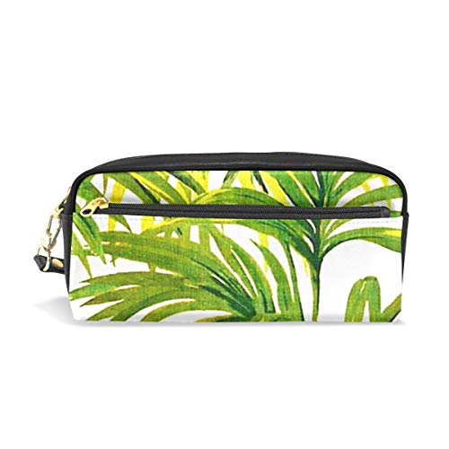 Pencil Bag Pen Case Pouch Tropical Plant Leaves Makeup Cosmetic for Girls Boys Travel School