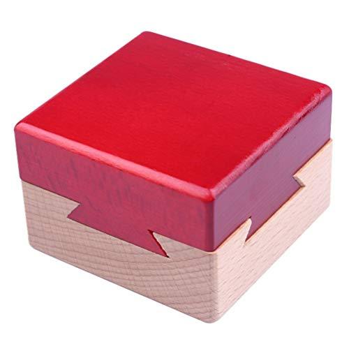 Puzzle Box Mini 3D Puzzles Madera Secret Tray Lock Box Cerebro Puzzle Juguete Imposible Dovetail Box Mini 3D Madera Puzzle Box para niños y Adultos