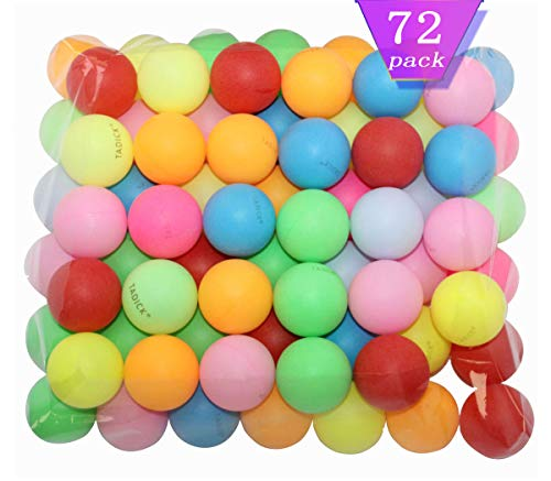 TADICK 72 Pack Ping Pong Balls Multiple Color Plastic Table Tennis Ball