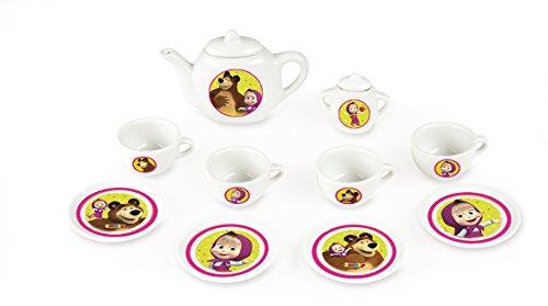 Smoby - 310514 - Masha et Michka - Jeu d'Imitation - Dinette Porcelaine - 10 Pièces
