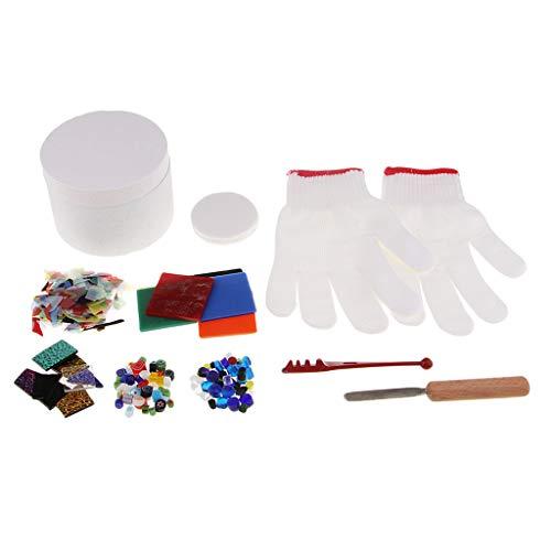 chiwanji 10 Unids/Set Kit de Horno de Microondas Kit de de Vidrio para Manualidades de Piezas de Joyería de Bricolaje