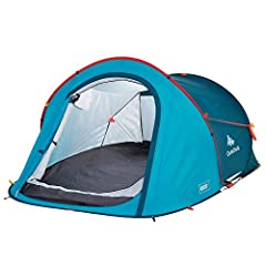 "2 Second 2-Person Camping Tent is designed for 2 people camping looking for a tent that's quick to assemble and dismantle. COMPACT DESIGN. 30.3 x 3.5"" / 41.9 liters / 7.9 lbs. CAPACITY. Sleeping area 70.9"" X 82.7"" Max. useful height: 40.9"" VENTILATIO..."