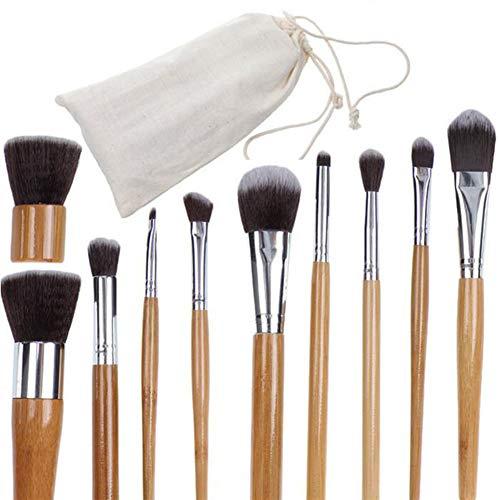 Seraphim Pinceaux De Maquillage 11 Ensemble De Pinceaux De Maquillage à Manche en Bambou Respectueux De l'environnement