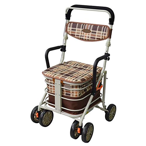 J+N Einkaufstrolley Älterer Stuhl, Alter Einkaufswagen-Alter Mann-Laufkatzen-Einkaufswagen-faltender Heller gehender Freizeit-Gehen Folding Wagen