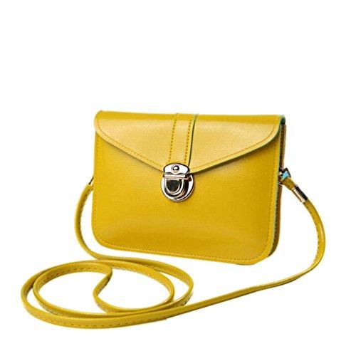 Bolso amarillo limón, estilo Bandolera para Mujer