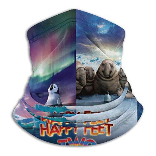 Happy Feet Two Unisex Neck Gaiter Tube Snood Face Cover Passamontagna Copricapo Scaldacollo Protezione UV/vento Riutilizzabile Lavabile Elastico Traspirante Bandana per Yoga Corsa Escursionismo