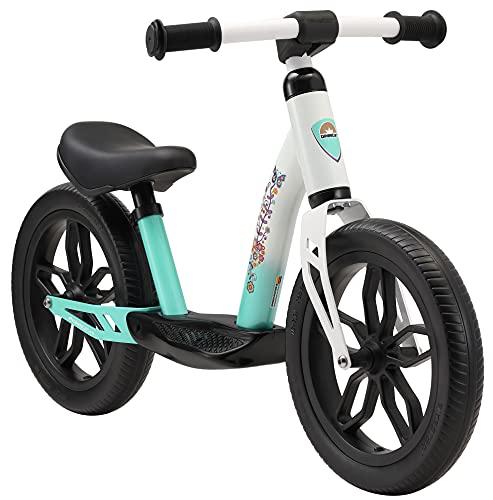 BIKESTAR Bicicleta sin Pedales Muy Ligera para niños y niñas | Bici 12' Pulgadas a Partir de 3-4 años | Eco Clásica Blanco