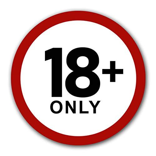 10 Stück Zutritt nur ab 18 Minderjährige verboten Aufkleber Ø 9,5cm Sticker für Jugendliche unter 18 untersagt Verbotszeichen mit UV Schutz für Außenbereich Innenbereich