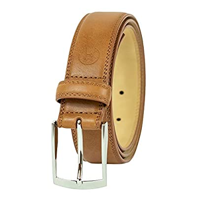 Weatherproof Men's Belt with Single Prong Buckle, Tan / Silver Buckle, 2X (46-48)