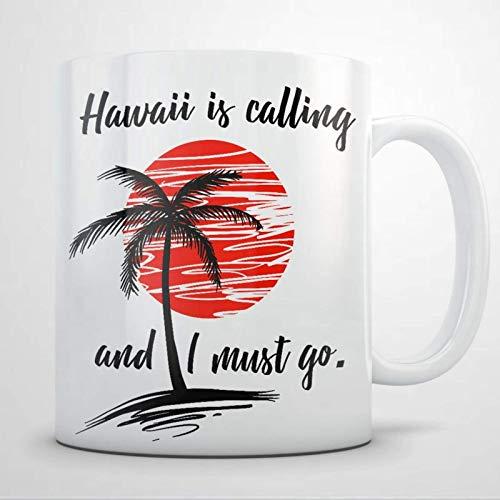 Mattanch Kaffeebecher, Hawaii-Souvenirs, Hawaii-Becher, Hawaii-Geschenk für Frauen und Männer Lustiges keramisches Kaffee-Teetasse-Geschenk für Freund-Familienliebhaber-Kollege 11oz