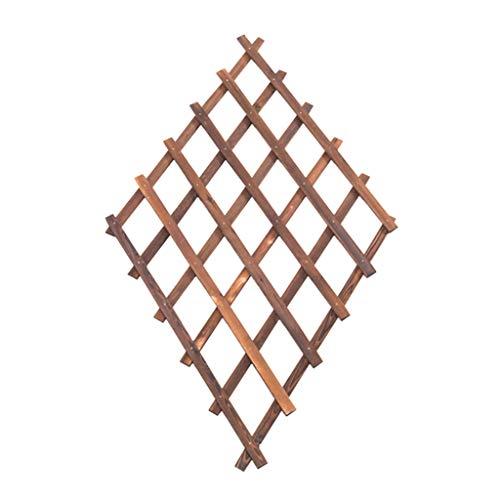 Holzgitter Wandbehang Blumenständer, Pflanze Rebe Rahmen hängen Wanddekoration Rahmen, Wohnzimmer Schlafzimmer Balkon Garten Wand Pflanze Rahmen, carbonisierte Farbe, dehnbar