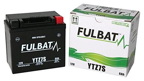 Batería FULBAT SLA YTZ7S 12V 6Ah 130A Largo: 113 x Ancho: 70 x Alto 105 (mm)
